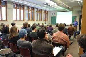 People Attending a Brown Bag Seminar