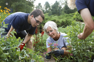 Pollinator Garden volunteers at the Kellogg Bird Sanctuary