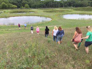 Teachers visit the Experimental Ponds at KBS