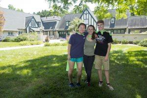 Interns Sabrina Brown, Lindsay Mensch, & Lucas Hamilton (all wearing their intern superhero capes)