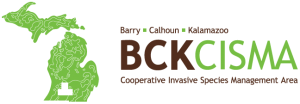 Logo for Barry, Calhoun and Kalamazoo Cooperative Invasive Species Management Area