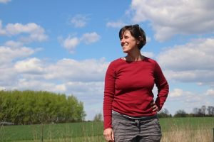 Photo of Associate Professor Jen Lau in KBS field