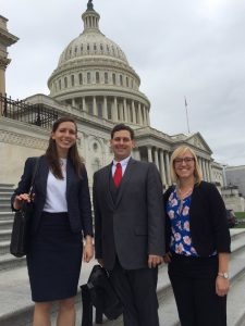 Groves with colleagues in Washington, DC