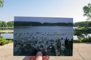 Historical then and now photo of Wintergreen Lake