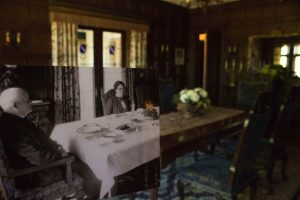 Historical then and now photo of Manor House dining room