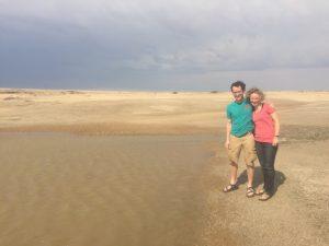 Logan and advisor Sarah Evans in Namibia in 2016