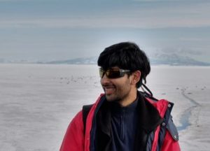 Mridul Thomas in Antarctica