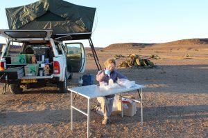 Sarah Evans in the Namib (photo credit Robert Logan)