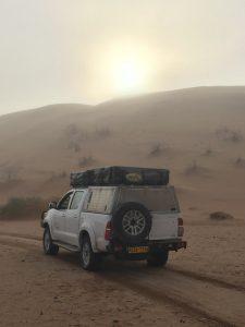 Fog at Station Dune in the Namib (Photo credit Robert Logan)
