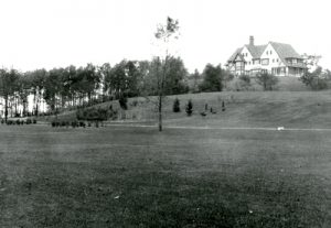 Historical photo of Manor House on highest point overlooking Gull Lake
