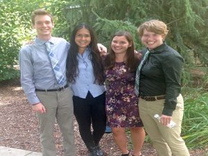 KBS summer students Harry Ervin (left), Jessica Waters, Emily Lindback, and Al Nichols.
