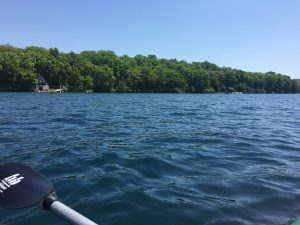 Exploring Gull Lake with a KBS kayak
