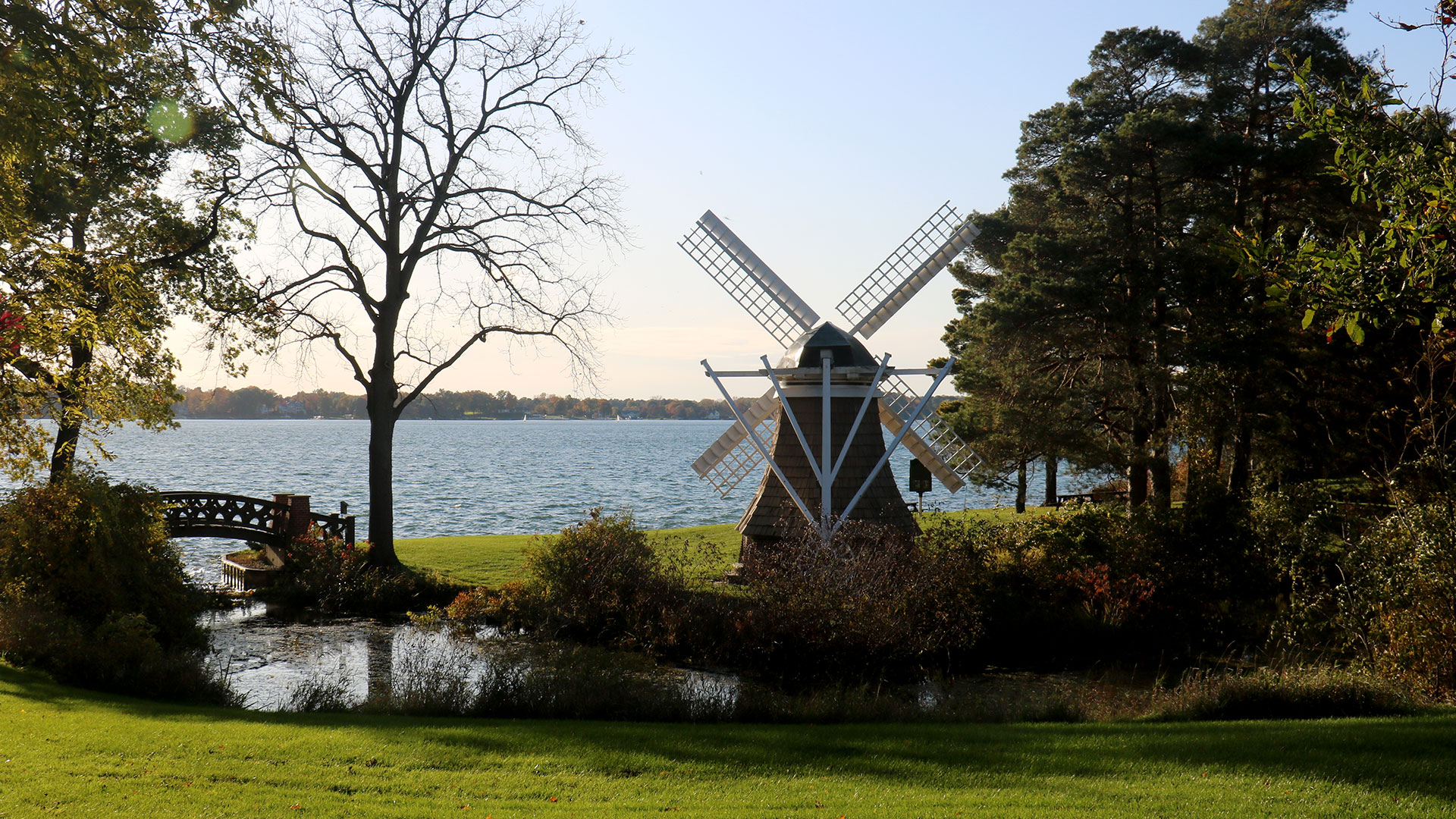 View of Gull Lake and the KBS windmill.