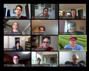 Screen shot of a Zoom gathering at the Long-term Agroecosystem Research 2020 meeting.