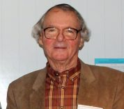 Don Hall in a plaid shhirt and brown jacket.